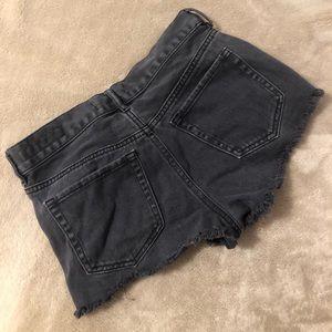 Bullhead Shorts - Black Bullhead Ripped Shorts